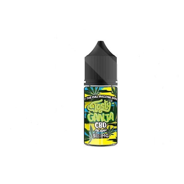 Tasty Ganja 500mg CBD 30ml Shortfill E-Liquid – OG Kush