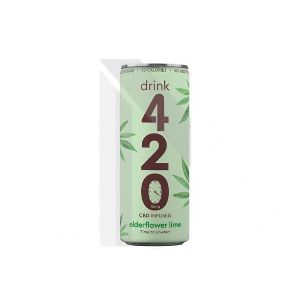 CBD Drink 15mg Infused Sparkling – Elderflower Lime