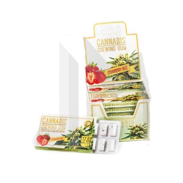 CBD Chewing Gum – Strawberry Haze 17mg