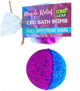 CBD Leaf 50mg CBD Bath Bomb – Muscle Relief