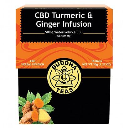 CBD Teas Turmeric Ginger Tea Bags 5mg