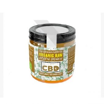 CBD Honey 87.5mg CBD Certified Organic Raw Acacia Hungarian honey 125g