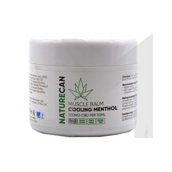 Cooling Menthol CBD Muscle Balm – 300mg Broad Spectrum CBD