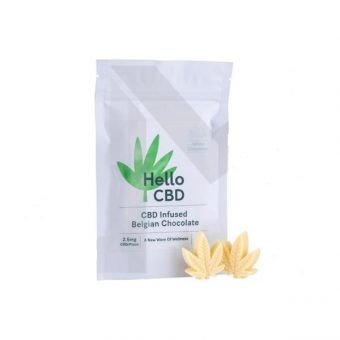 CBD Chocolate – 15mg CBD Infused Belgian White Chocolate