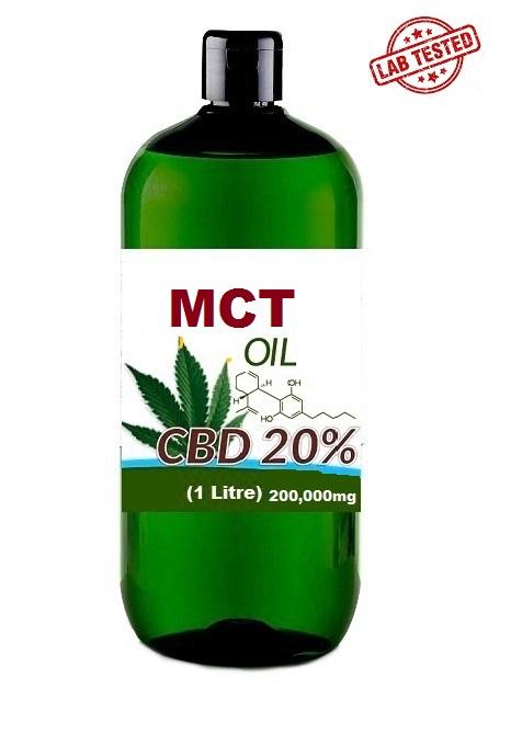 CBD MCT OIL 20% 1 LITRE