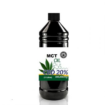 Full Spectrum CBD + MCT Oil 20% 200,000mg – 1 Litre Bottle.