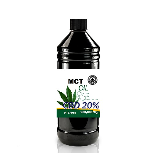 Full Spectrum CBD + MCT Oil 20% 200,000mg – 1 Litre Bottle.