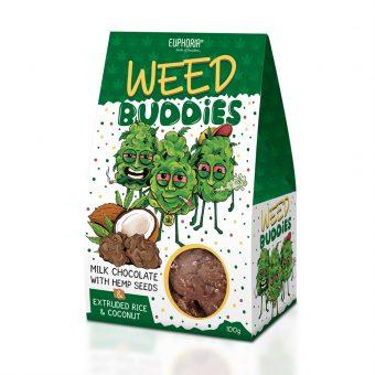 Weed Buddies 100g Milk Chocolate With Hemp Seeds